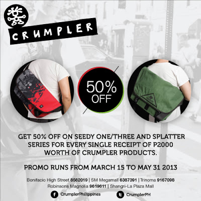 Crumpler Sale May 2013